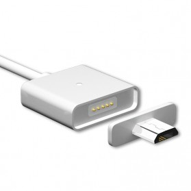 Magnetic Lightning Quick Charging Cable for iPhone - Silver - 6
