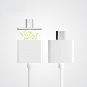 Magnetic Lightning Quick Charging Cable for iPhone - Silver - 7