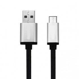 Aluminium USB Type C to USB 3.0 Cable 1 Meter - Black - 3
