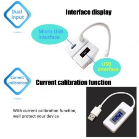 Kabel USB Tester Voltase & Ampere Power Bank - KWS-V20 - White - 5