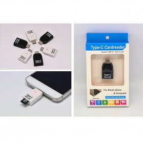 Card Reader OTG USB 3.1 Type C ke Micro SD - T-636 - White - 5