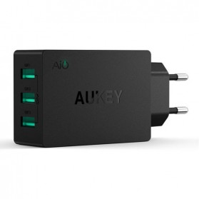 Aukey Charger USB 3 Port EU Plug - PA-U35 - Black - 2