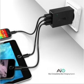 Aukey Charger USB 3 Port EU Plug - PA-U35 - Black - 3