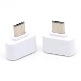 Mini OTG Adapter Micro USB ke USB Female - White - 3