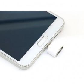 Mini OTG Adapter Micro USB ke USB Female - White - 4