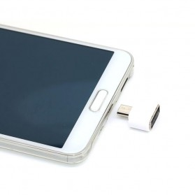 Mini OTG Adapter Micro USB ke USB Female - White - 5