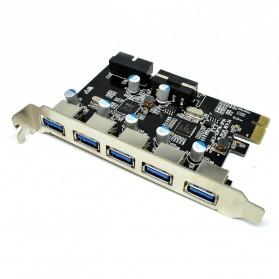 PCI Express to 5 USB 3.0 Port PCI Card - 1