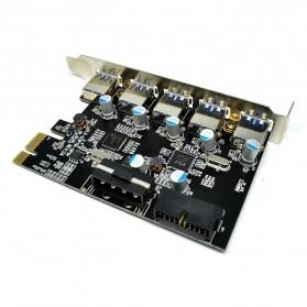 PCI Express to 5 USB 3.0 Port PCI Card - 2