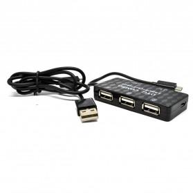 Malloom USB Hub Card Reader OTG Multifungsi 480Mbps - K-618 - Black - 5