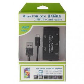 Malloom USB Hub Card Reader OTG Multifungsi 480Mbps - K-618 - Black - 7