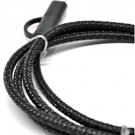 Hemp Kabel 2 in 1 Lightning & Micro USB 1 Meter - Black - 3
