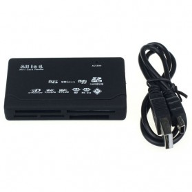 Card Reader SD XD MMC MS CF SDHC TF Micro SD M2 Adapter - Black