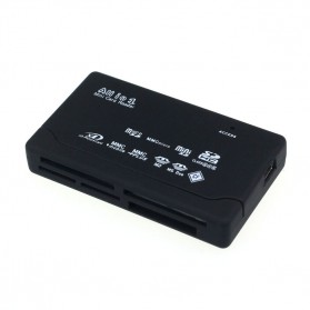 Card Reader SD XD MMC MS CF SDHC TF Micro SD M2 Adapter - SHTC-08 - Black - 2