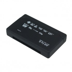 Card Reader SD XD MMC MS CF SDHC TF Micro SD M2 Adapter - SHTC-08 - Black - 3