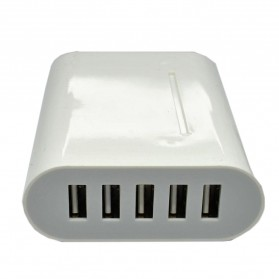 Tablet Charger & Travel Charger - 5 Ports USB Charger Travel Adapter 40W 8A (EU Plug) - White