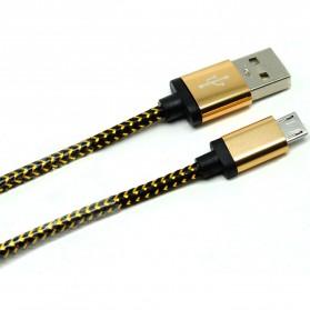 Kabel Micro USB Braided Emas 1 Meter - Golden - 2