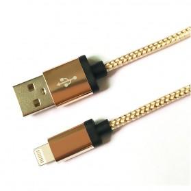 Kabel Micro USB Braided Emas 1 Meter - Golden - 4