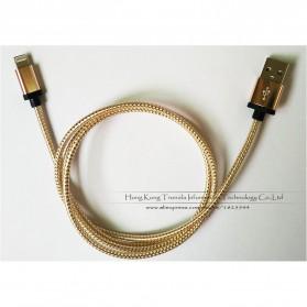 Kabel Micro USB Braided Emas 1 Meter - Golden - 5