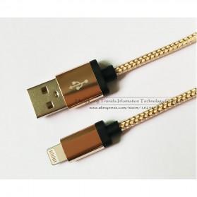 Kabel Micro USB Braided Emas 1 Meter - Golden - 6