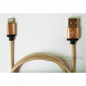 Kabel Micro USB Braided Emas 1 Meter - Golden - 7