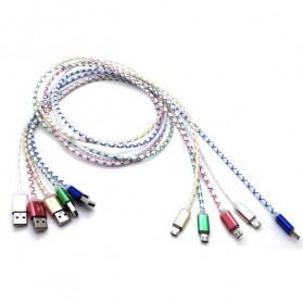 Kabel Micro USB Optical Fiber - Golden - 3