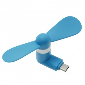 USB Type C Mini Portable USB Fan for Smartphone - Blue