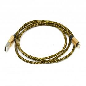 Kabel Lightning Braided Emas 1 Meter - Golden