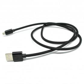 Kabel Micro USB Braided 2A 1 Meter - Black - 2