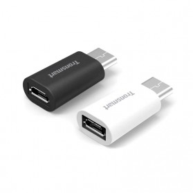 Tronsmart USB 2.0 Type C to Micro USB Female Adapter 2PCS - Black