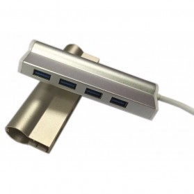 Super Speed Aluminum USB Hub 3.0 4 Ports Model A - Silver