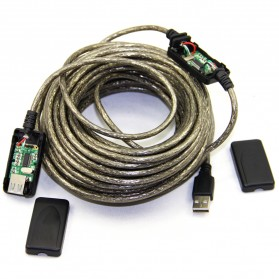 Kabel Ekstensi USB Male ke Female 20 Meter - C380 - Black - 3