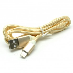Kabel Charger Reversible 2 in 1 Micro USB and Lightning - Golden