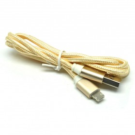 Kabel Charger Reversible 2 in 1 Micro USB and Lightning - Golden - 2