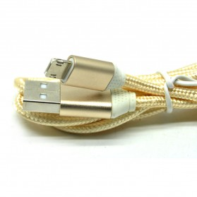 Kabel Charger Reversible 2 in 1 Micro USB and Lightning - Golden - 3