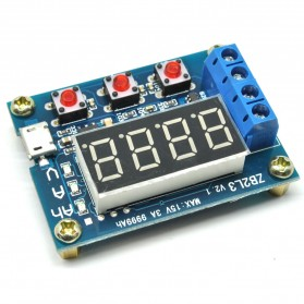 Zhiyu Battery Capacity Meter Discharge Tester 1.5v~12v for 18650 Li-ion - ZB2L3 - Blue