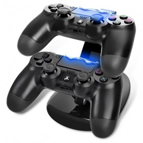 OIVO Gamepad Double Charging Dock Stand for PS4 Controller - Black
