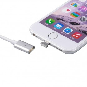 2 in 1 Kabel Charger Braided Magnetic Micro USB & Lightning for Smartphone - Silver - 2