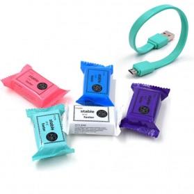 Kabel Micro USB Permen 20cm - Sky Blue - 2