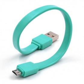Kabel Micro USB Permen 20cm - Sky Blue - 6