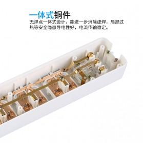 Powerstrip 3 USB Port + 3 Electric Plug dengan LED Indikator - White - 14