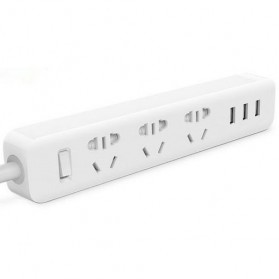Kinco Powerstrip 3 USB Port + 3 Electric Plug - KU03 - White