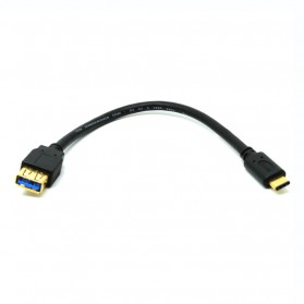 Hama Kabel Charger dan Data Type C to USB 3.0 Gold Plated - Black