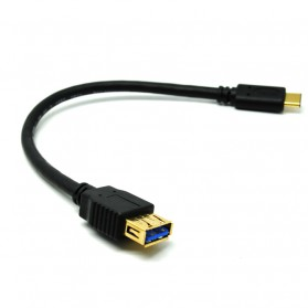 Hama Kabel Charger dan Data Type C to USB 3.0 Gold Plated - Black - 2