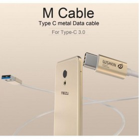 WSKEN Kabel Charger USB Type C High Quality - Golden - 2