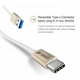 WSKEN Kabel Charger USB Type C High Quality - Golden - 4