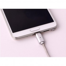 Kabel Charger Magnetic 2 in 1 Micro USB & Lightning - Silver - 7