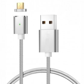 Kabel Charger Magnetic Micro USB 1 Meter - E03 - Silver