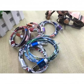 Kabel Charger Lightning Braided Pattern 2A - Multi-Color - 3