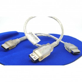 USB 2.0 to Male USB 2.0 & Female Type Y Cable - White - 2