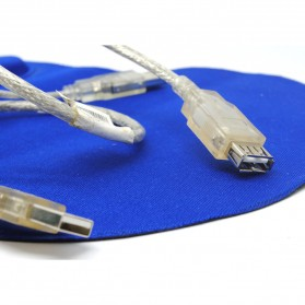 USB 2.0 to Male USB 2.0 & Female Type Y Cable - White - 3